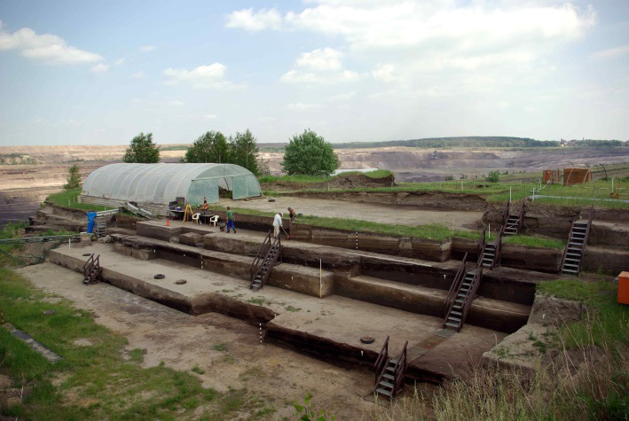 View on the ongoing excavations at Schöningen in 2014. Photo: Jordi Serangeli.