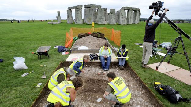 The archaeologists said their work had taken four years in total. Photo Credit: Adam Stanford/BBC.