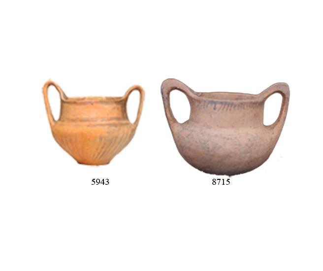 Fig. 13. Matt coloured kantharoi from Kato Pedina (ΑΜΙ 5943) and Kato Konitsa (ΑΜΙ 8715). (source: author's archive)