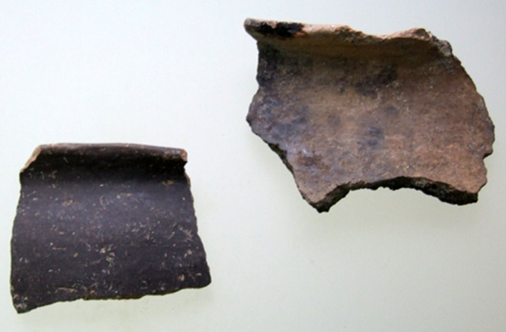 Fig. 4. Samples of monochrome ceramics from Krya. (source; author's archive)