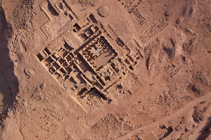 High-definition balloon photo of Petra's Temple of the Winged Lions. Aerial images like these can be used to monitor site conservation and facilitate research around the world. Credit: Thomas Levy, UC San Diego