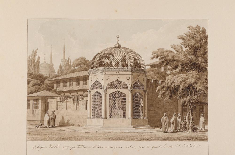 Thomas Hope, Tomb at Üsküdar Watercolour on paper Inv. no. 27372 v. V Benaki Museum