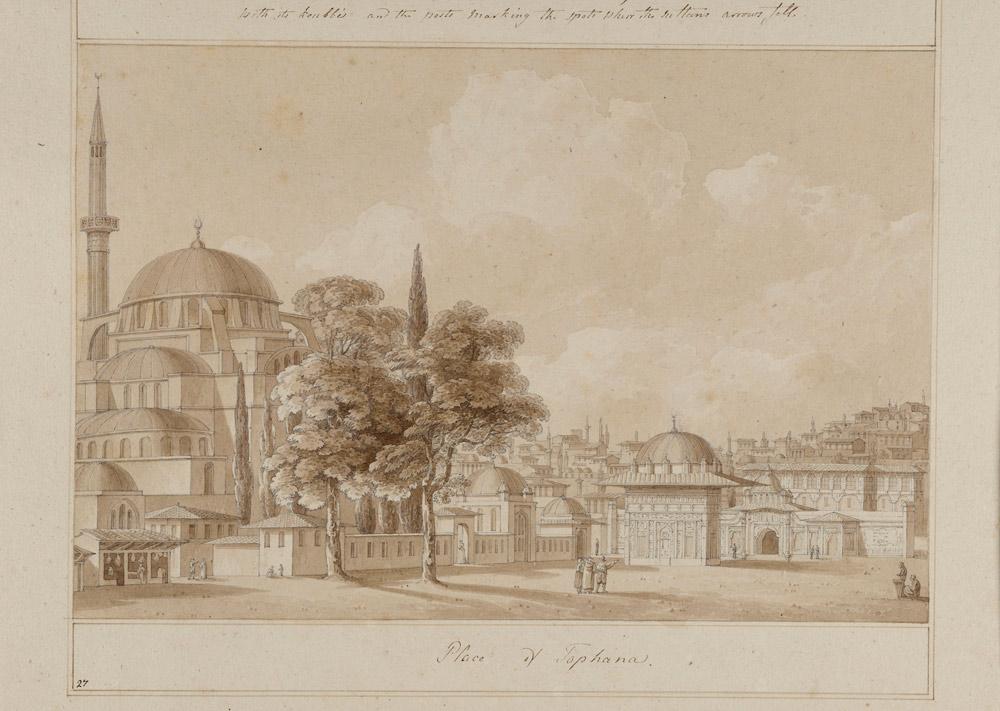 Thomas Hope, View of the Tophane Square Watercolour on paper Inv. no. 27327 v. V Benaki Museum.