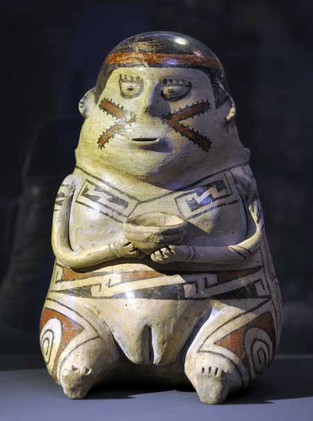 The evidence of corn beer found at Casas Grandes dates to the same cultural period as this figurine, from 1200 to 1450 CE. Photo Credit: Western Digs.