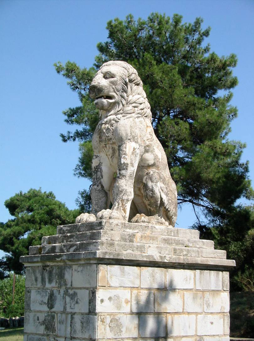 Fig. 1. Lion of Amphipolis, in situ (photo of the author).