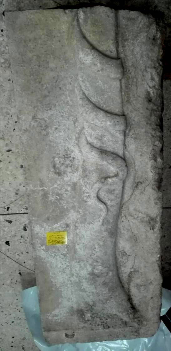 Fig. 11. Stele with fig tree and snake coiling around it. Amphipolis, Archaeological Museum (photo courtesy of Lefantzis).