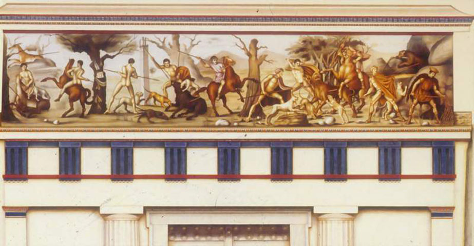 Fig. 15. Hunting scene of the frieze on the royal tomb no. 2 of Vergina. Reconstruction by Franks (from Franks 2012).