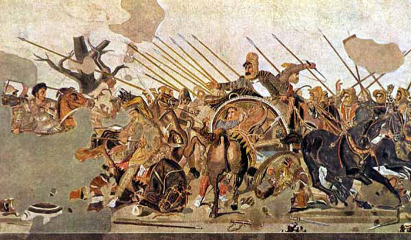 Fig. 16. Battle of Alexander from Casa del Fauno at Pompeii, Naples, the National Archaeological Museum (from Cohen 1997).