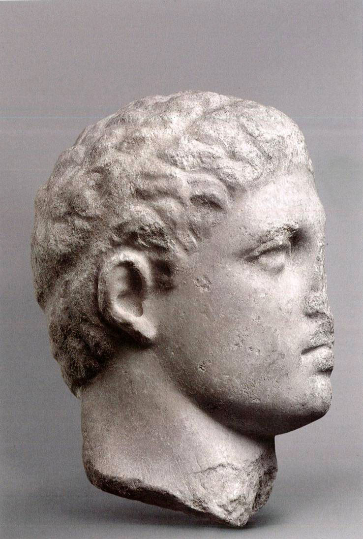 Fig. 19. Head from Amphipolis, Paris, Department of Greek, Etruscan and Roman Antiquities, storeroom (from Descamps-Lequime 2011).