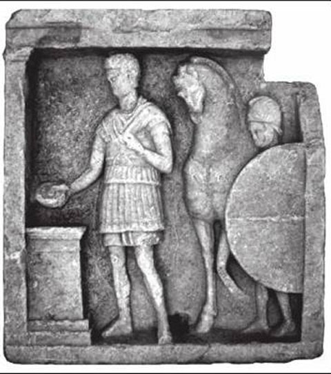 Fig. 20. Relief at Amphipolis, Archaeological Museum (from Kosmidou and Melanidou 2004-2005).