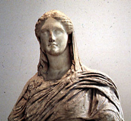 Fig. 24. Demeter from Knidos, London, The British Museum, Department of Greek and Roman Antiquities (photo courtesy of the British Museum).