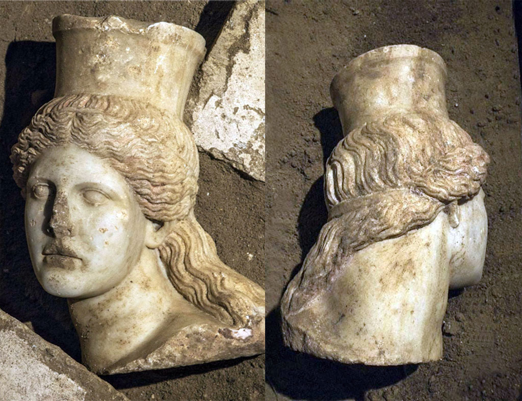 Fig. 7. Head of Sphinx from the tumulus Kasta, Amphipolis, Archaeological Museum (photo of the author).