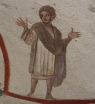 Frescoes in Roman catacombs restored