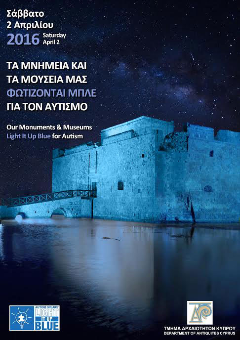 Light It Up Blue for autism in Cyprus.
