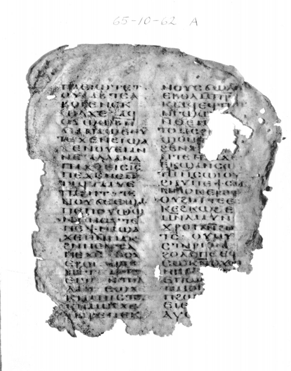 Fig. 3. A parchment manuscript from the monastery of Qasr el Wizz with a homiletic (?) work in Coptic referring to Apa Shenoute. Credit: Archives of The Oriental Institute of Chicago.