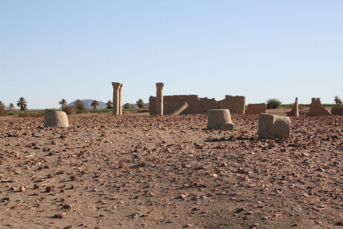 Fig. 5. Overview of the site of the so-called Cathedral of Sai Island, Northern Sudan. Credit: Medieval Sai Project.