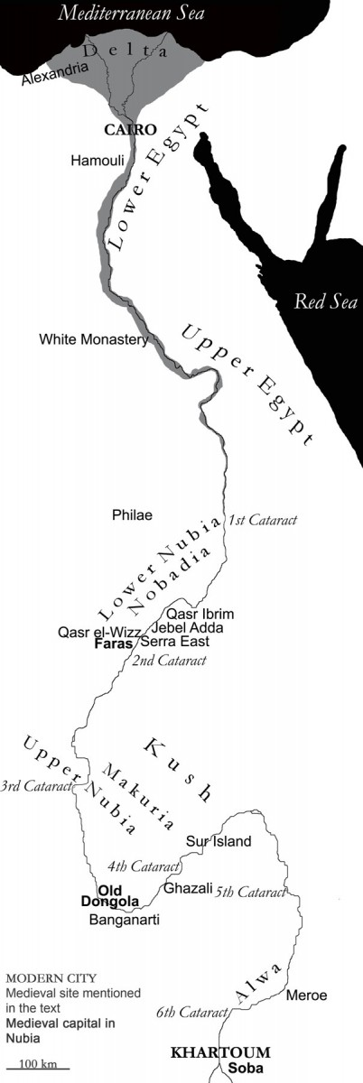 Fig. 9. Map of Christian Nubia.