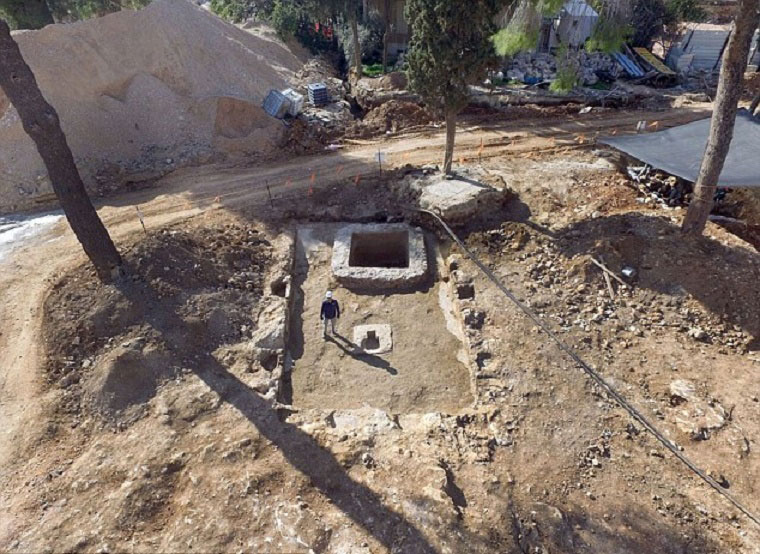 An ancient rural estate comprising a manor house, large wine press, Roman bathhouse  and Jewish Mikye, or ritual bath, has been unearthed in Jerusalem beneath  a famous orphanage. Photo Credit: IAA/Archaeology News Network.