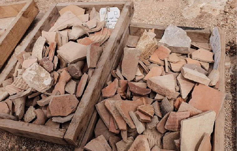 A picture of some of the pottery recovered at the site. Photo Credit: IAA/Archaeology News Network.
