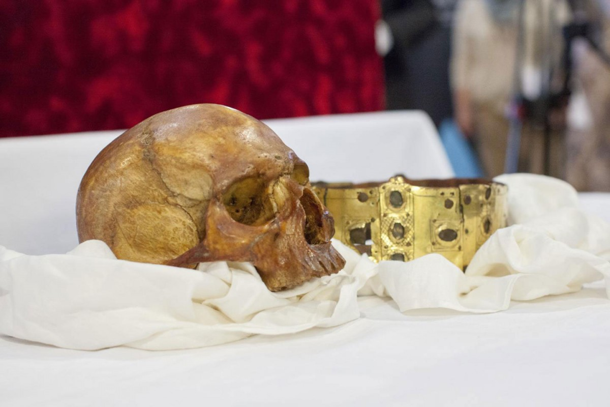 On April 23, 2014, the reliquary was opened at a ceremony in Uppsala Cathedral. After this, researchers from several scientific disciplines set to work running tests on the remains in an attempt to learn more about the medieval king. Credit: Mikael Wallerstedt.