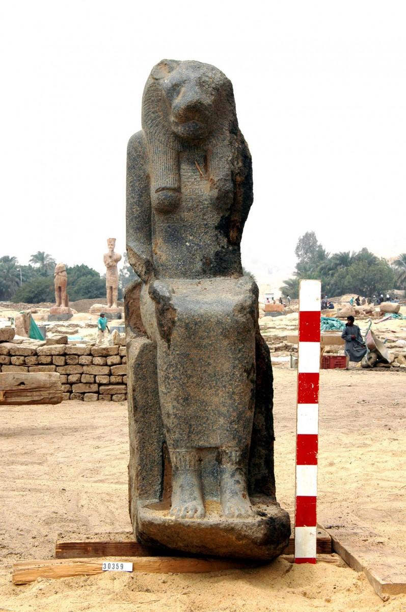 Sekhmet statue from Kom el Hetan.