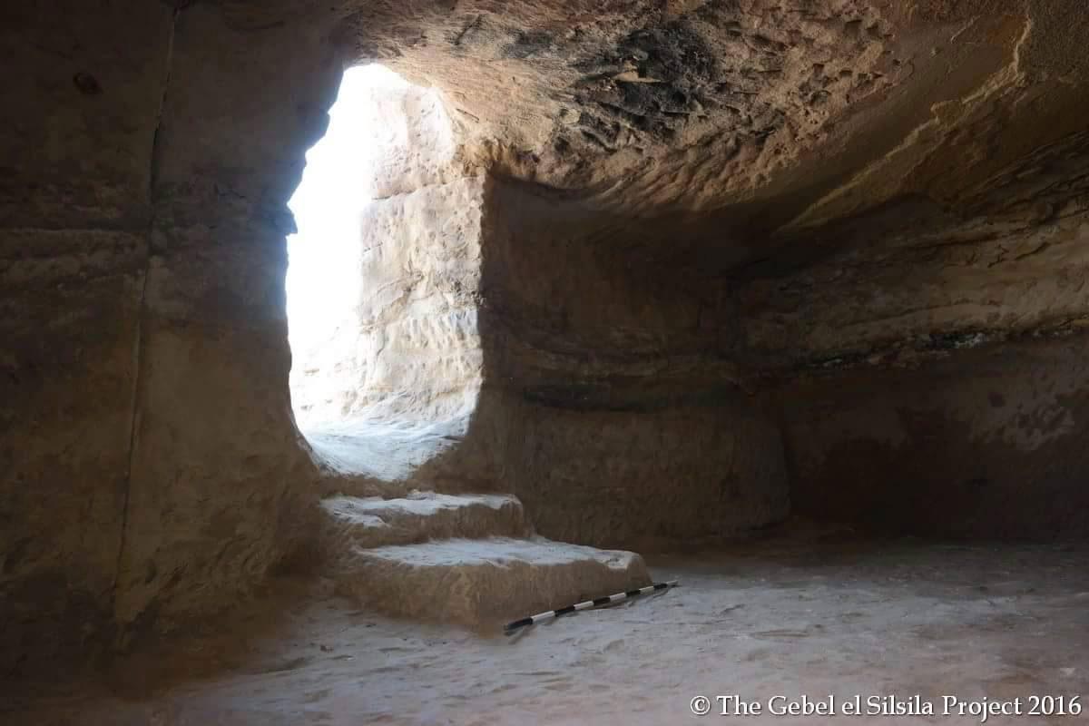 Tomb interior at Gebel el Silsila. Photo by the Gebel el Silsila Project 2016