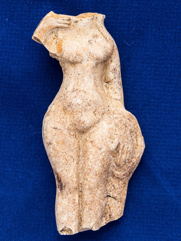 The Venus statue, which would have had religious significance, is missing her head and would have been standing on a pedestal but she is reasonably well intact, according to Senior archaeological officer Fay Minter. Courtesy: John Nunn.
