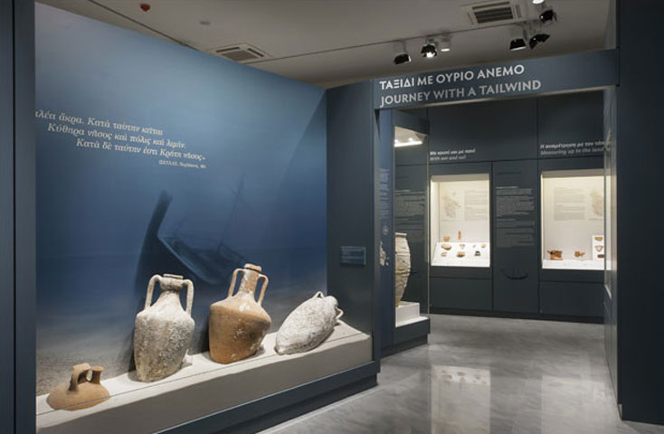 View of the exhibition at the Archaeological Museum of Kythera.
