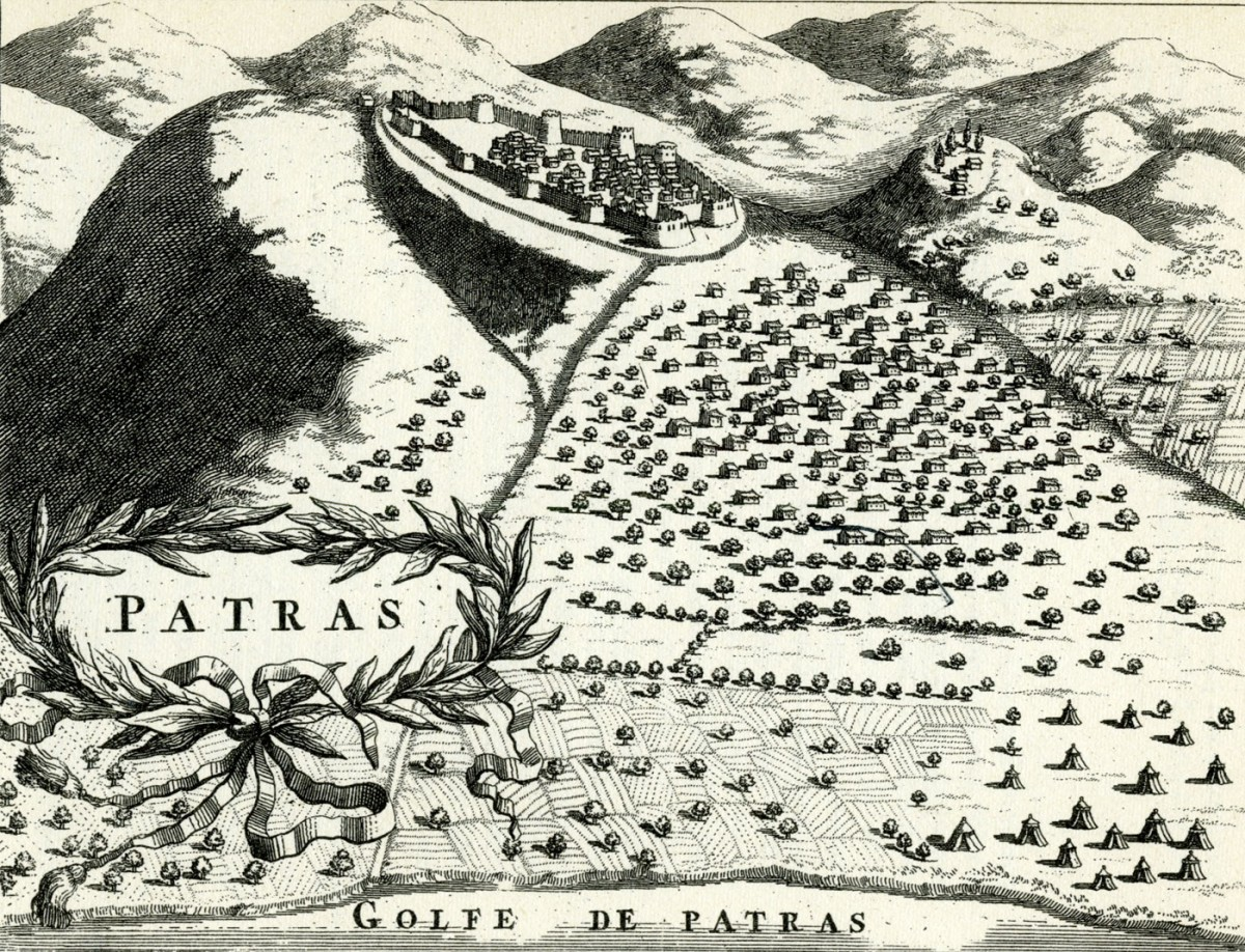 Fig. 1. Patras. Etching, M.V. Coronelli, 1686.