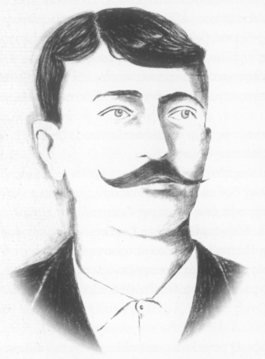 Fig. 39. Karaghioz shadow puppet player Mimaros (Dimitris Sardounis). From the book by Evanthia E. Stivanakis , Θεατρική ζωή, Κίνηση και δραστηριότητα στην Πάτρα από το 1828 έως το 1900, Περί Τεχνών, Patras 2001.