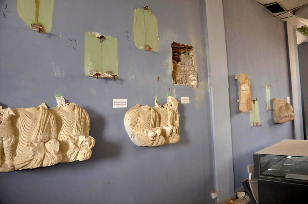 Some of the artefacts were relocated before the IS captured Palmyra, but many were left behind and destroyed by the extremists. Photo Credit: SANA via AP/Concord Monitor.