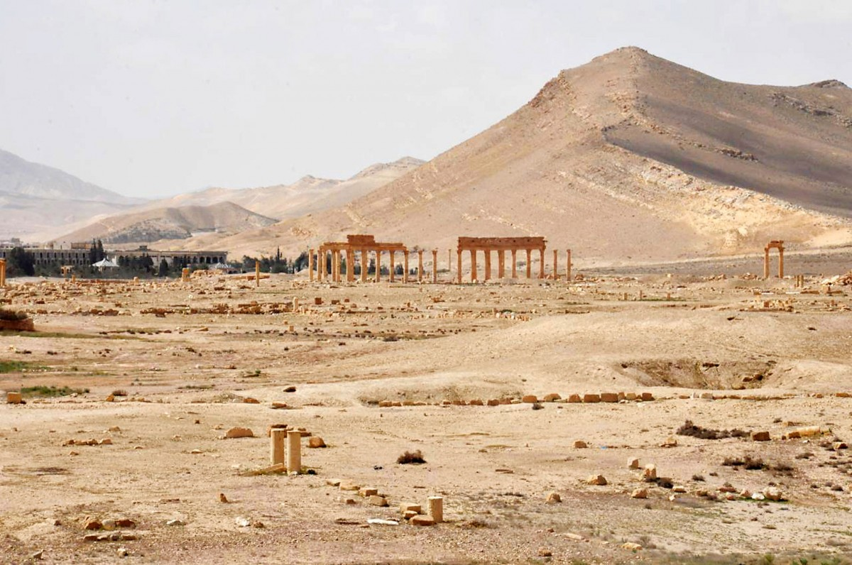 The destruction caused by the IS at Palmyra is only similar to that caused by an earthquake. Photo Credit: SANA via AP/Concord Monitor.