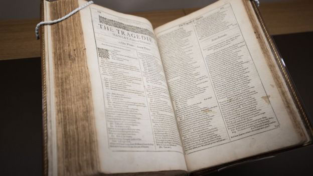 A copy of the First Folio sold in 2003 raised £3.5m. Photo Credit: Bodleian Library/BBC.