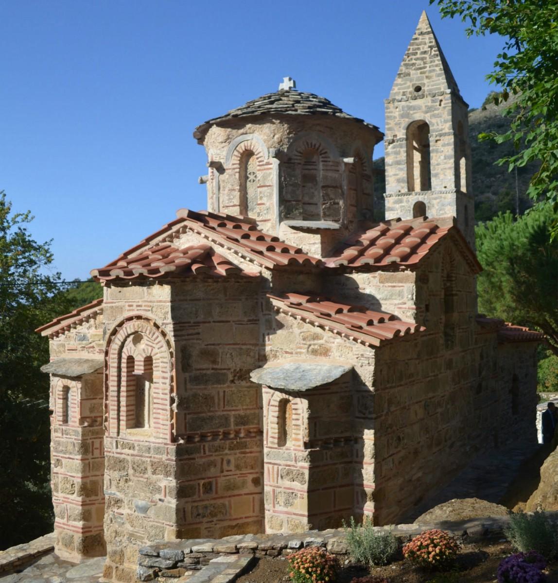 Byzantine Church of St. Peter in Kastania, Mani, Greece.