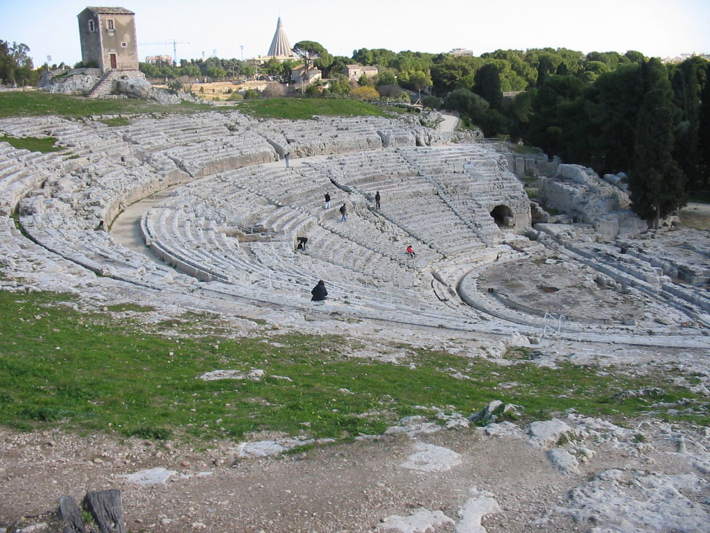 The ancient theater of Syracuse, Sicily, Italy.
