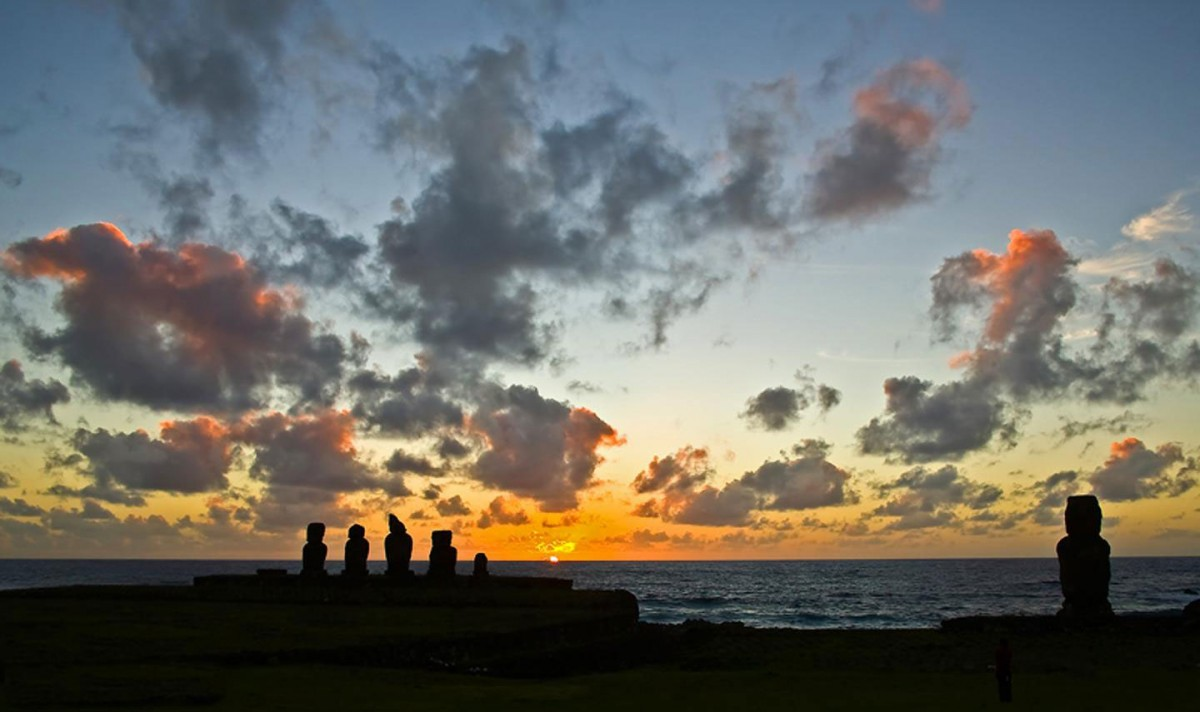 The iconic moai statues are found on Easter Island. Credit: Photo courtesy of Dr. Valentí Rull.