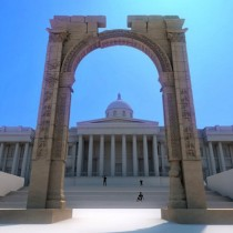 Replica of the Palmyra arch unveiled in London
