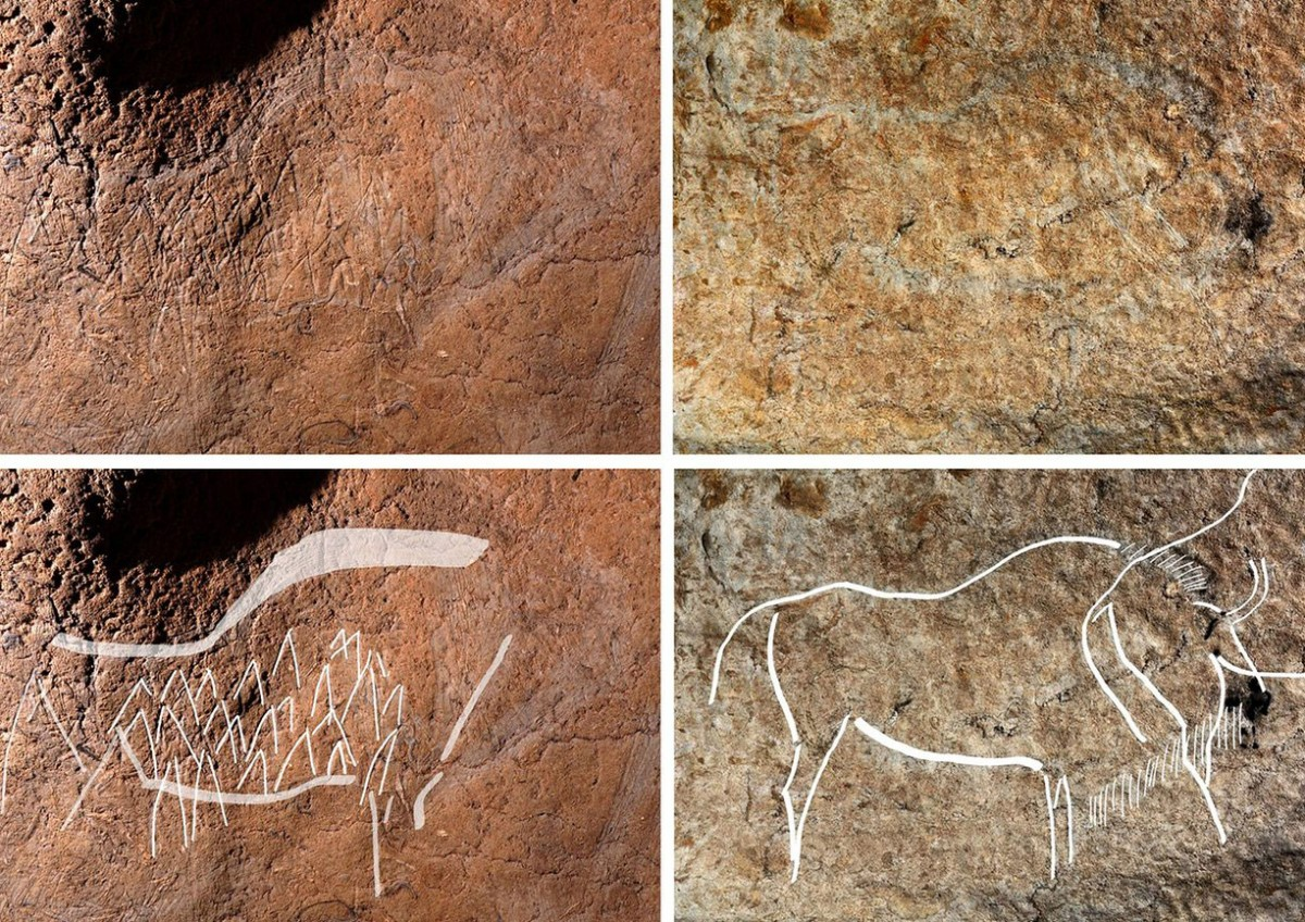 The cave paintings at Atxurra. Photo Credit: bizkaia.eus/The Local.