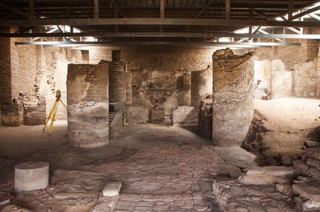 Interior of the Church of Archangel Raphael in Dongola [Credit: M. Rekłajtis, archives of the Centre of Mediterranean Archaeology, University of Warsaw].