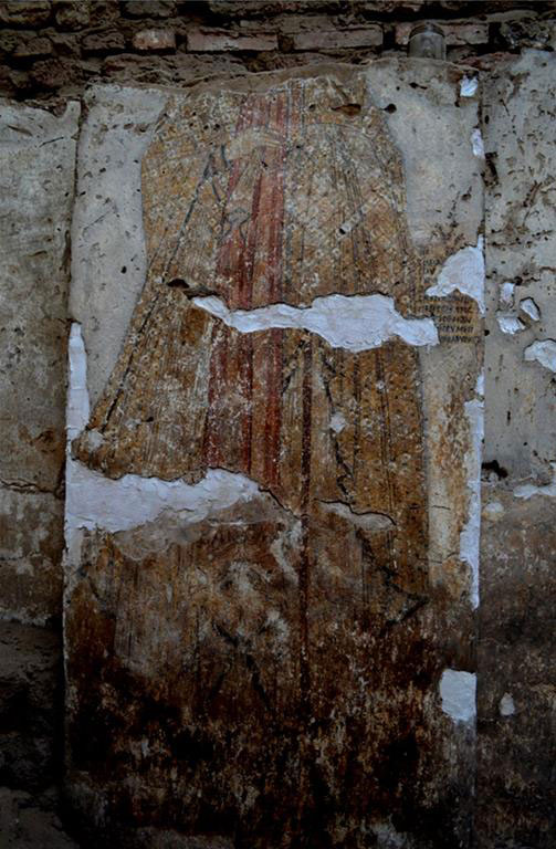 One of the discovered paintings [Credit: M. Rekłajtis, archives of the Centre of Mediterranean  Archaeology, University of Warsaw].