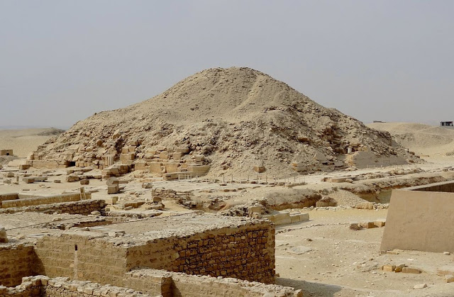 The Pyramid of Unas at Saqqara [Credit: Olaf Tausch/WikiCommons].
