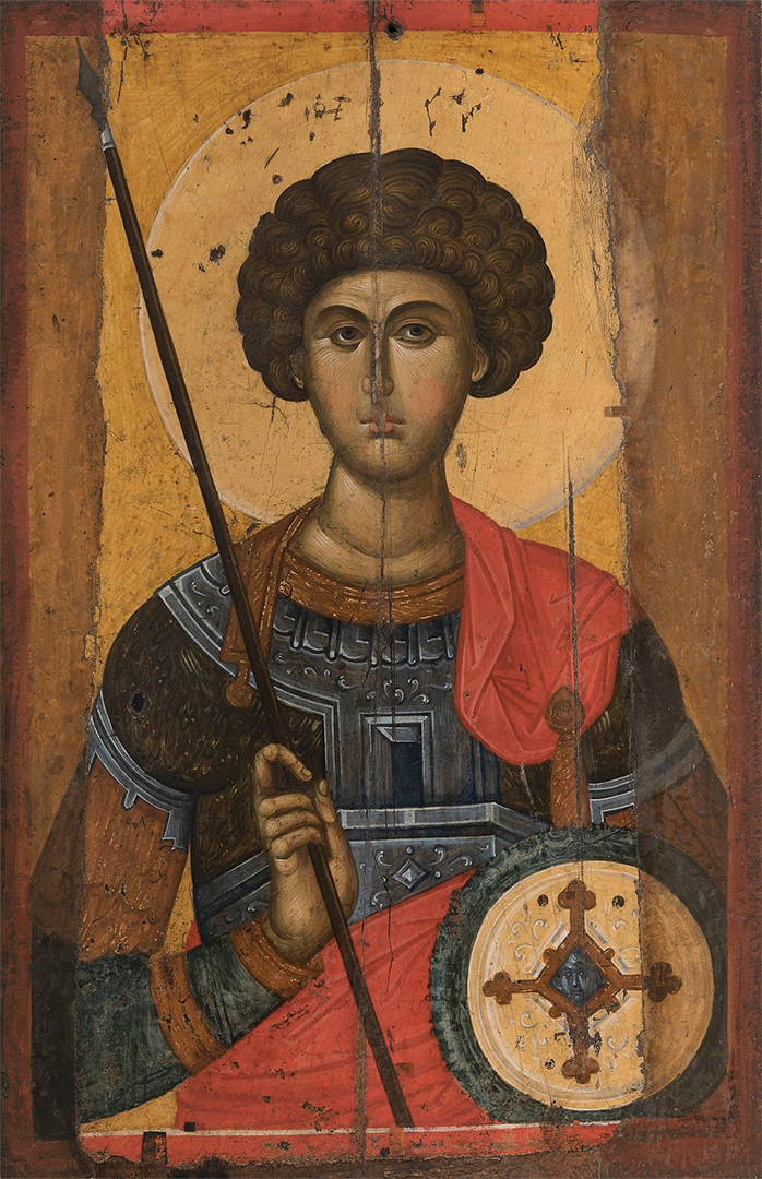 Icon depicting Saint George. The middle of the 14th century, Byzantium. Wood, gesso, tempera. Byzantine and Christian Museum,  Athens. © Hellenic Ministry of Culture and Sports / Byzantine and Christian Museum, 2016