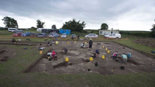 The Ipplepen Archaeological Project began its fieldwork for this year two weeks ago. Photo Credit: Steven Haywood/BBC.