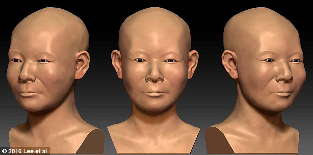 The team was able to reconstruct her facial features and head shape based on skull fragments.
