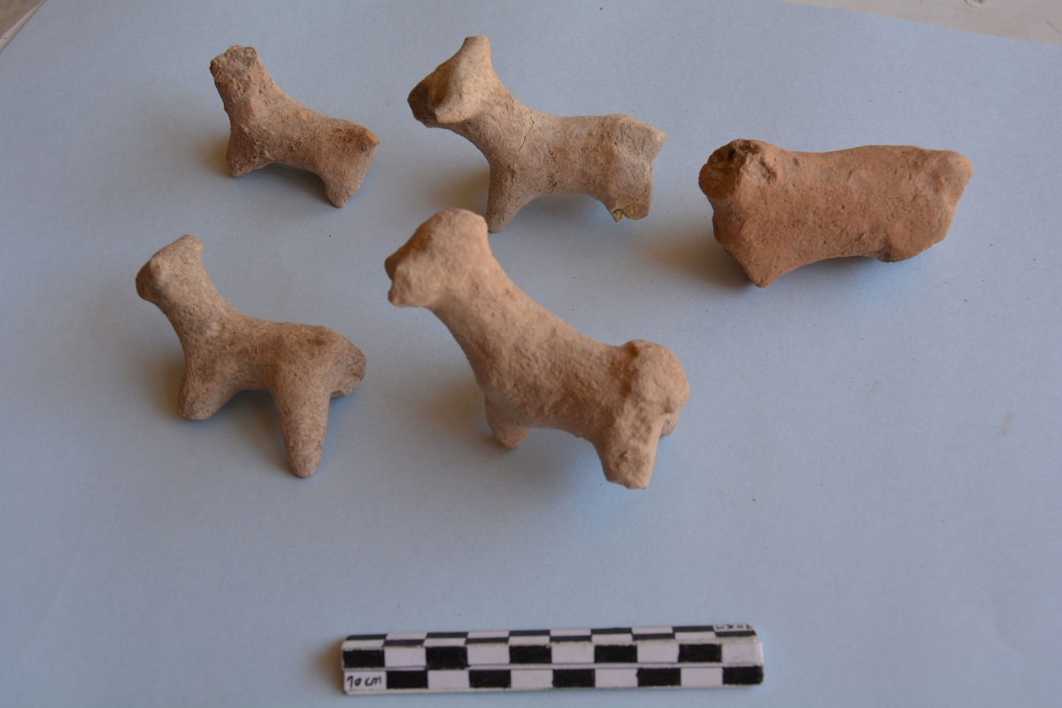 Archaeological objects found at the Gird Lashkir site by the UAB team. Bovids that could just be toys or could even have a religious meaning.