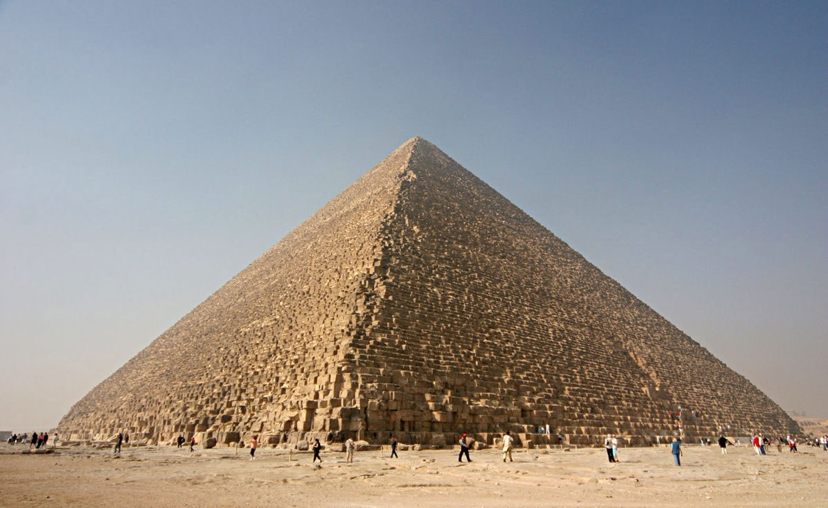 The Great Pyramid at Giza was built for the pharaoh Khufu about 4,500 years ago. Photo Credit: Nina Aldin Thune-CC/Live Science.