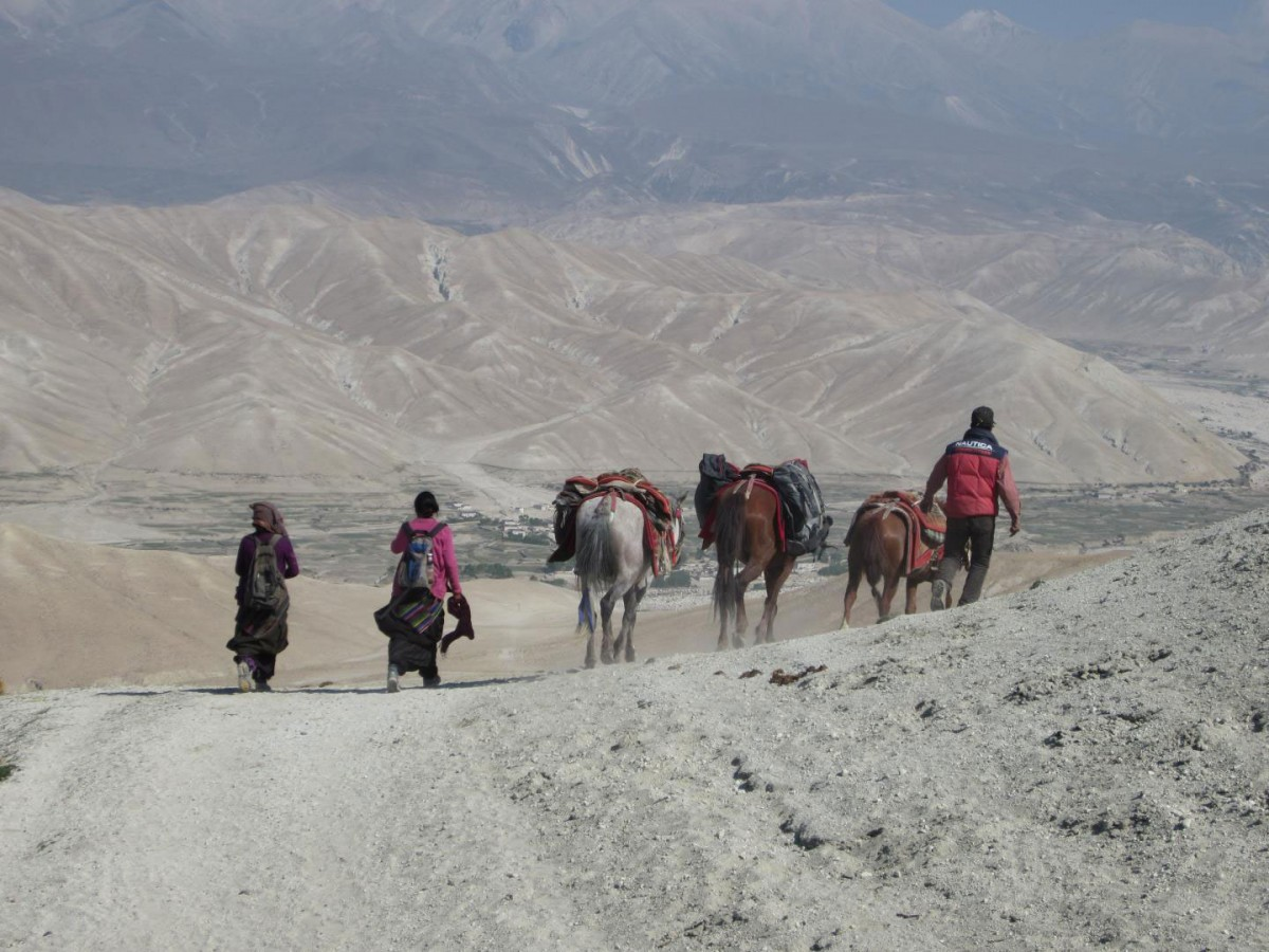 Prehistoric Himalayan settlements are remote and only accessible today by horse and on foot. Credit: University of Oklahoma.