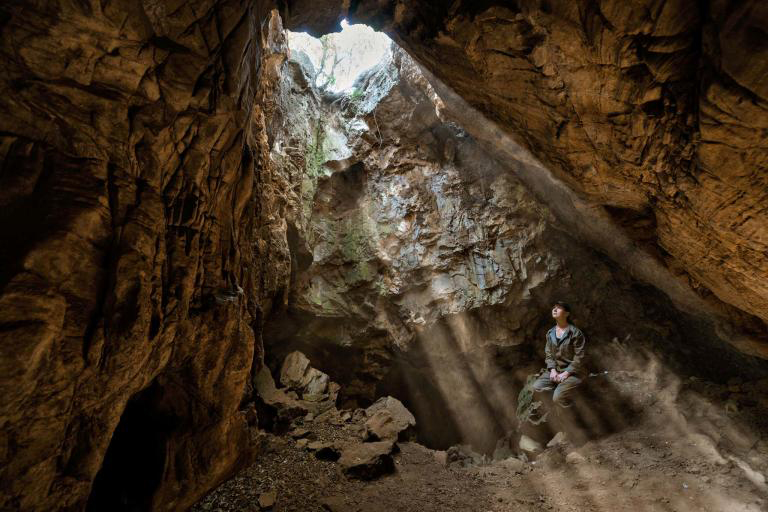 The Rising Star cave system (also known as Westminster or Empire cave) is located in the Malmani dolomites, in Bloubank River valley, about 800 meters (0.50 miles; 2,600 feet) southwest ofSwartkrans, part of the Cradle of Humankind World Heritage Site in South Africa.