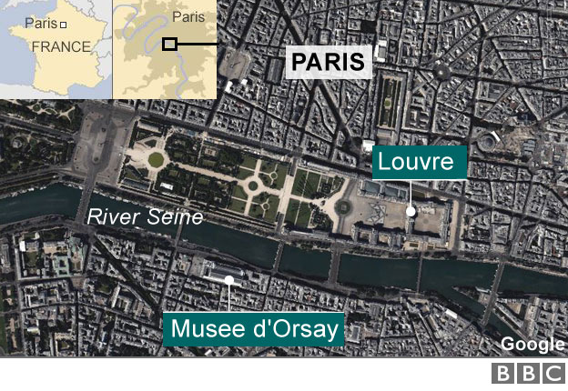 Both the Louvre and the Musee d'Orsay have been taking precautions, moving works from underground stores to higher levels. Photo Credit: BBC.