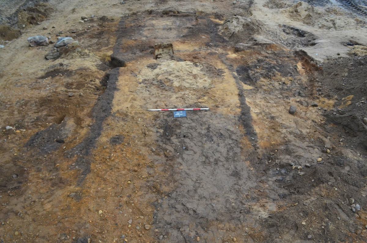 Outline of the 1000 year-old tomb Photo Credit: Museum Silkeborg/Science Nordic.